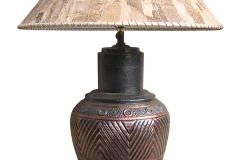 kerajinan lampu meja tembaga kuningan 2