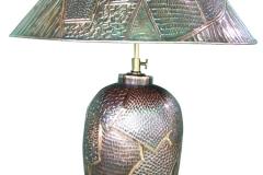 kerajinan lampu meja tembaga kuningan 4